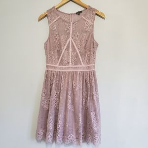 Lily Rose | dusty rose lace dress